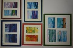 lijsten gekleurd met kleur uit kunst
